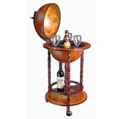 Напольный светлый глобус-бар (диаметр сферы 33 см)