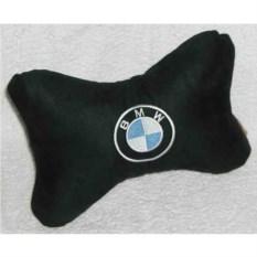 Черная подушка-подголовник BMW
