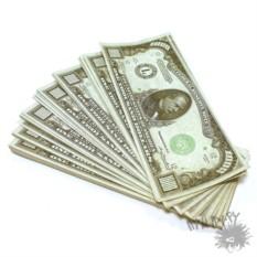 Сувенирная пачка денег 1000 долларов