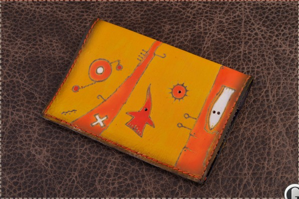 Обложка для паспорта. Коллекция Altamira (желтый; тип 3; нат. кожа)
