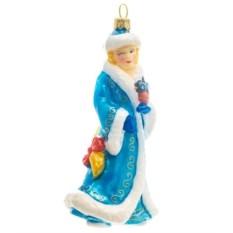 Ёлочная игрушка Снегурочка в синей шубке