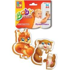 Мягкие магнитные пазлы для малышей Пушистики