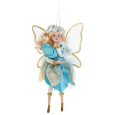 Голубое украшение для интерьера Цветочная фея