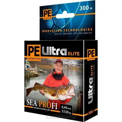 Плетеный шнур PE Ultra Elite Sea Profi, толщ. 0,30 мм, дл. 300 м
