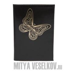 Обложка для паспорта Spektr-butterfly-black