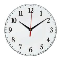 Белые настенные часы Классика