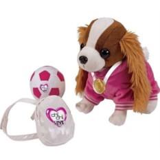 Мягкая игрушка Кокер-спаниель с рюкзаком, медалью и мячем