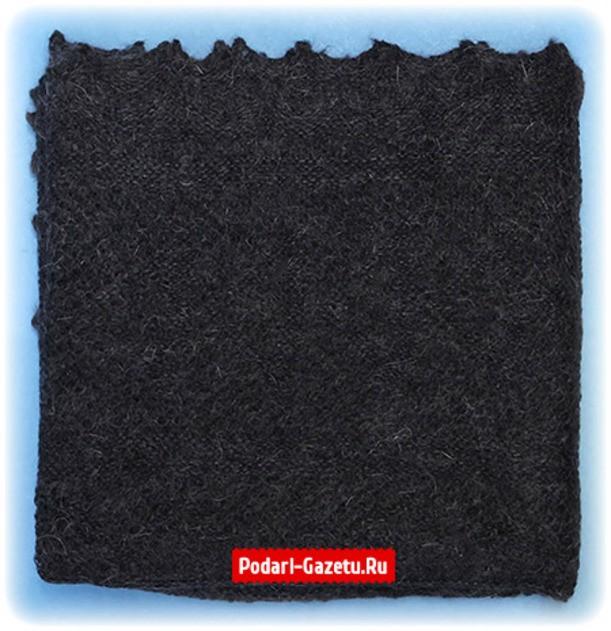 Темно-серый Оренбургский пуховый платок