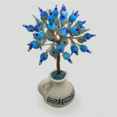 Дерево из голубого агата На счастье