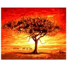 Картина-раскраска по номерам на холсте Саванна