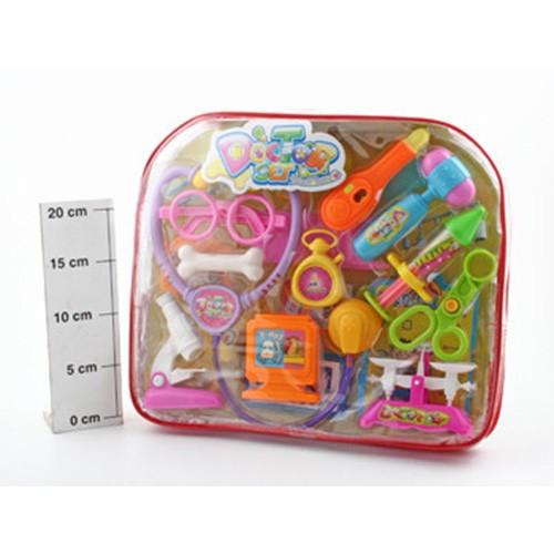 Пластмассовая игрушка в сумке Набор доктора