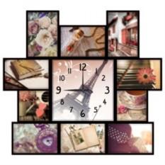 Настенные часы-коллаж с фоторамками Радости жизни