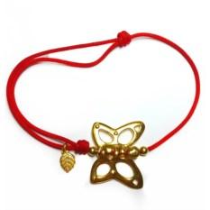 Позолоченный серебряный браслет Бабочка, взмах крыльев