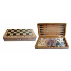 Набор настольных игр 3 в 1 шахматы, нарды, шашки