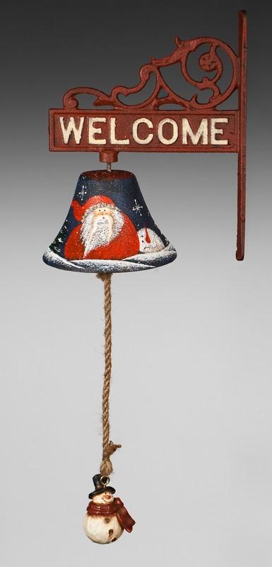 Рождественский металлический синий колокол