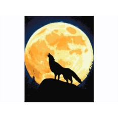 Картины по номерам «Волк и Луна»