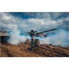 Миссия Бронетехника: выстрел из пушки Т-62 (холостой)
