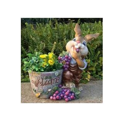 Кашпо «Кролик с виноградом»