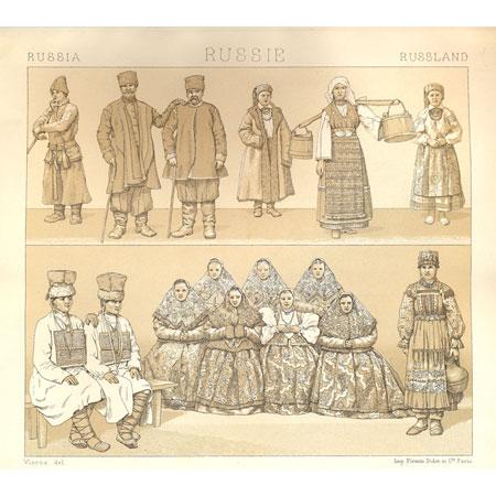 Гравюра Русский костюм