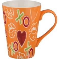 Оранжевая кружка Love, объем 450 мл