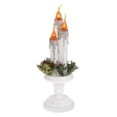Новогоднее светящееся украшение Три свечи