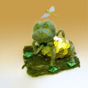 Букет из конфет «Лягушка»