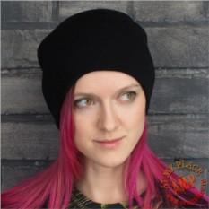 Черная шапка бини
