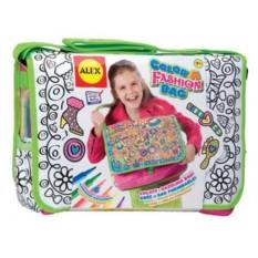 Набор для детского творчества Alex Раскрась сумку модницы
