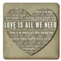 Подставки под стакан Любовь