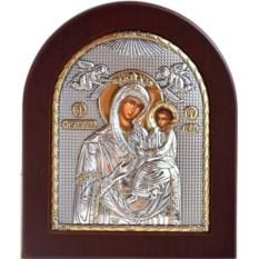 Икона Божьей Матери в серебряном окладе Скоропослушница