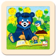 Пазл Медвежонок с раскраской