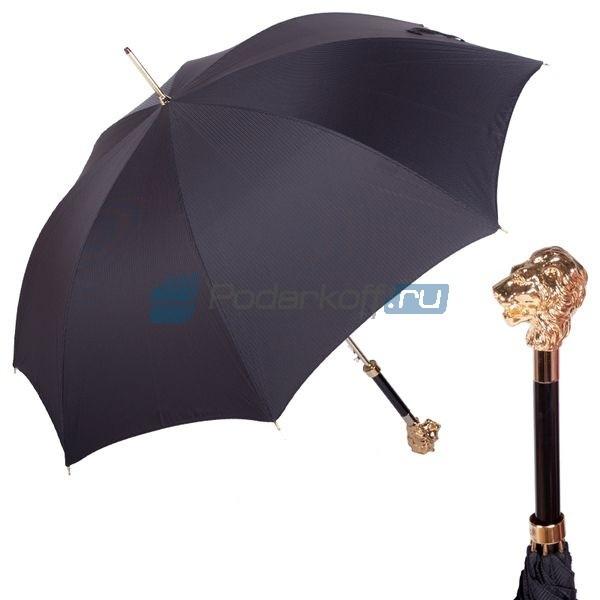 Зонт-трость Pasotti Leone Gold Stripes Black