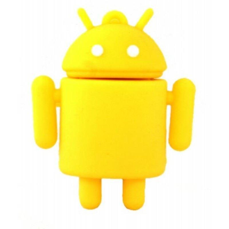 Флешка Андроид желтый 16ГБ