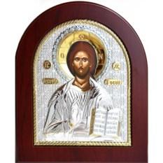 Икона в серебряном окладе Спаситель Вседержитель