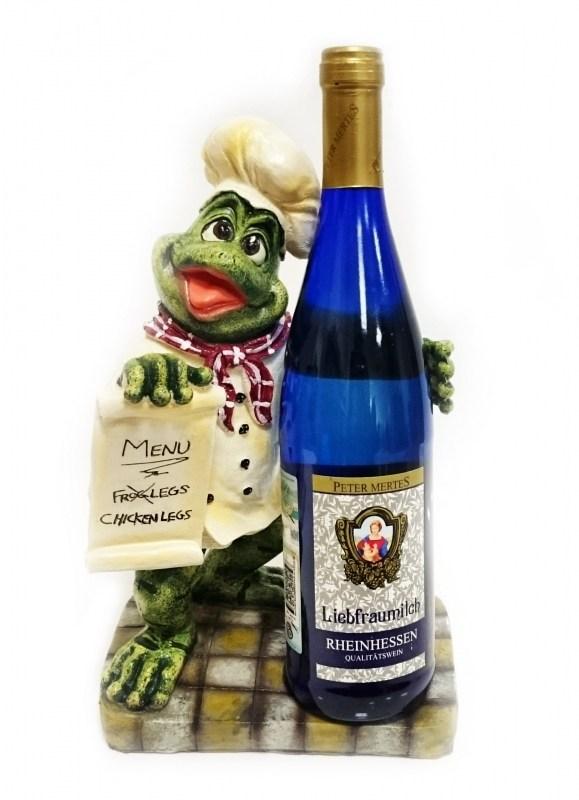 Подставка для бутылки Лягушка с меню