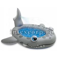 Надувной бассейн с фонтанчиком Акула