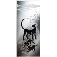Картина с кристаллами Swarovski Семейство пантер