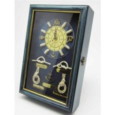 Ключница-коллаж Морская романтика с часами