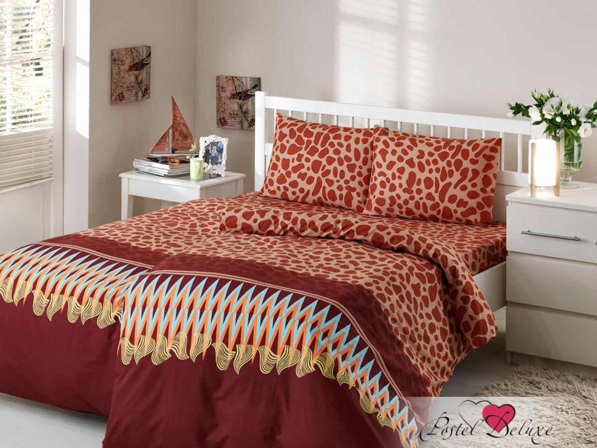 Коричневое постельное белье КПБ Kalahari