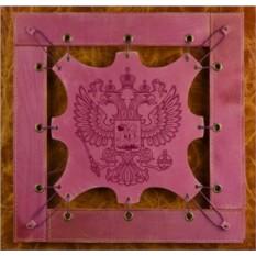 Картина из кожи Герб РФ