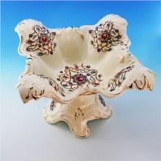Керамическая ваза для фруктов с кристаллами Бельведер
