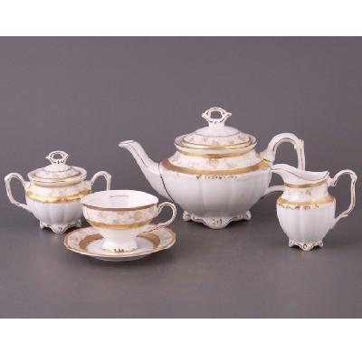 Чайный сервиз на 6 персон с узорами