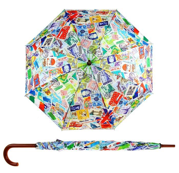 Зонт трость полуавтоматический Время путешествий