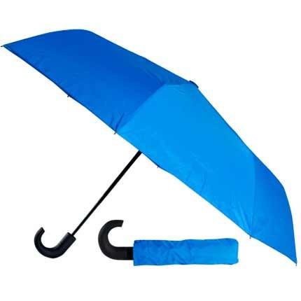 Складной автоматический зонт, в чехле, синий