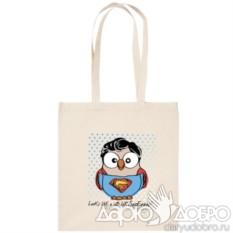 ЭКО-сумка с совой Супермен
