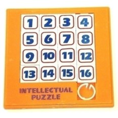 Оранжевая пластиковая головоломка Шестьнашки
