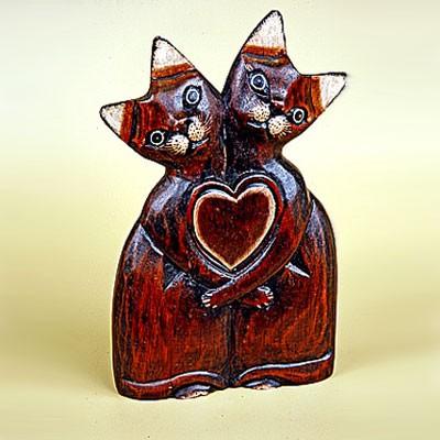 Статуэтка «Кошки — сладкая парочка»