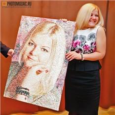 Фотомозаика в подарок девушке на юбилей