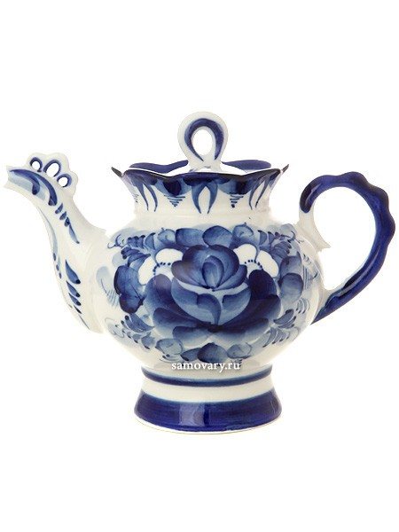 Заварочный керамический чайник Гжель