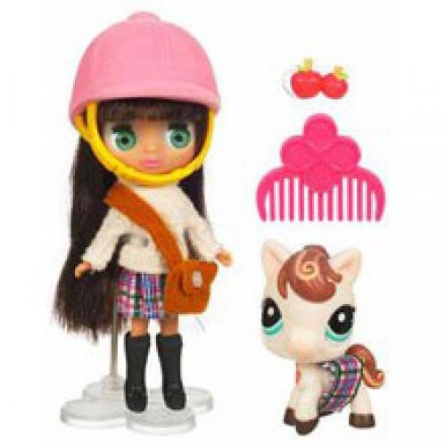 Игровой набор Куколка и зверюшка Playfully Plaid